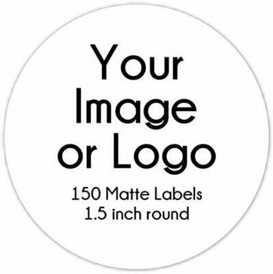 150 Custom MATTE Logo Labels - 1.5 inch round