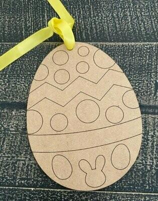 Wood Easter Egg Tag for Easter Baskets