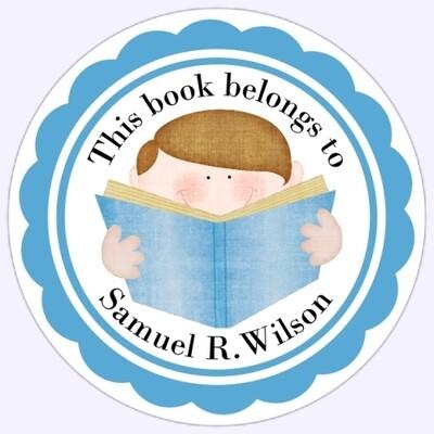Book Belongs to Stickers