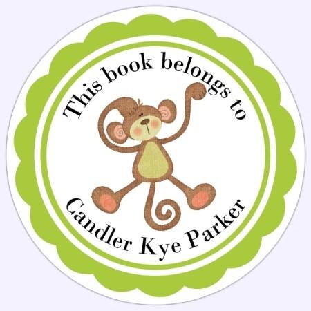Book Belongs to Stickers - Monkey