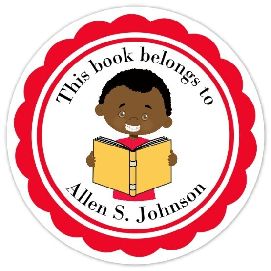 Book Belongs to Stickers - Short Brown Hair (Boy)