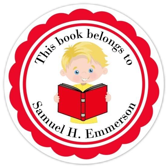 Book Belongs to Stickers - Blond Hair (Boy)