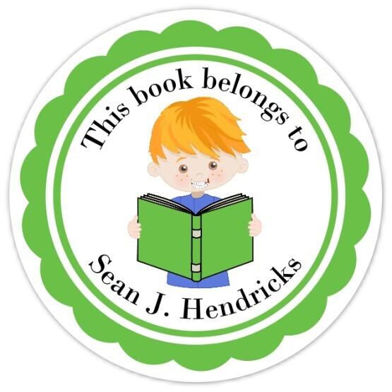 Book Belongs to Stickers - Red Hair (Boy)