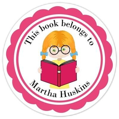 Book Belongs to Stickers - Red Hair