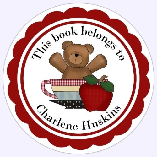 Book Belongs to Stickers - Teddy Bear