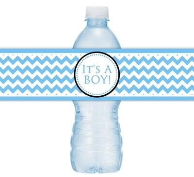 It's A Boy Baby Shower Water Bottle Labels