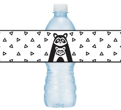 Racoon Baby Shower Water Bottle Labels