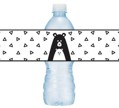 Bear Baby Shower Water Bottle Labels