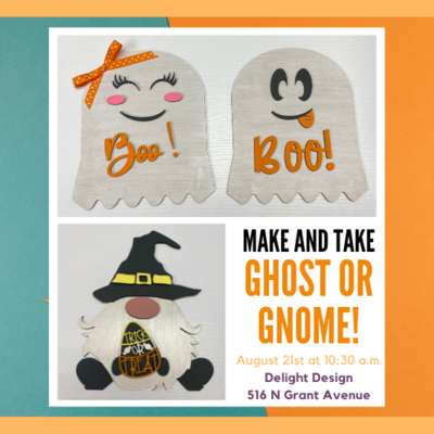 Make And Take - Ghost or Gnome Shelf Sitter