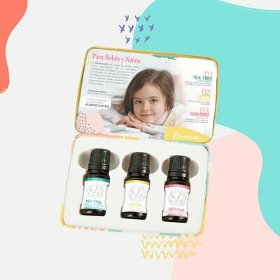 Kit Aceites Esenciales Purificantes para Bebés y Niños
