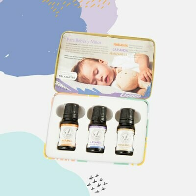 Kit Aceites Esenciales Relajantes para Bebés y Niños