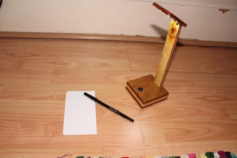 Handmade Reclaimed Wood Rechargeable LED Desk Lamp