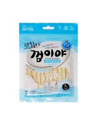 【 狗癮零食 】韓國오션 寵物潔牙骨(牛奶口味)除臭 磨牙 貓狗零食 貓狗餅乾  寵物零食點心