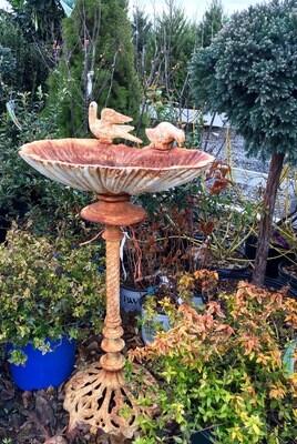 Double Bird Perching Birdbath