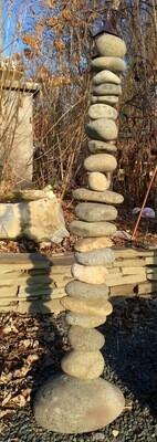 Stacked Stone Garden Ornament (Indoor or Outdoor)