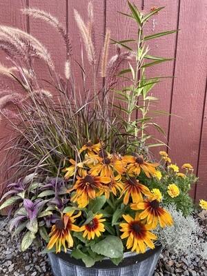 Summer Into Fall Custom Planter