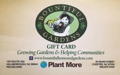 Bountiful Gardens Gift Card