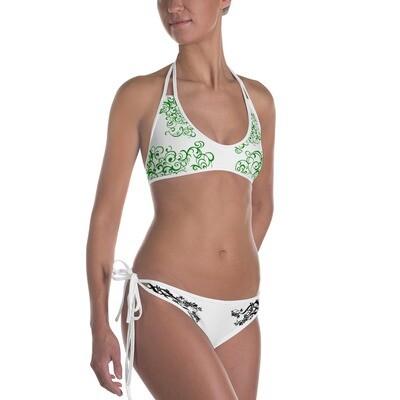 Valkoiset bikinit - kuvioidut