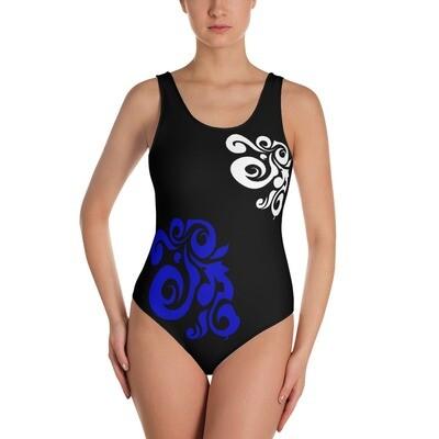 Naisten uimapuku - kuvioitu