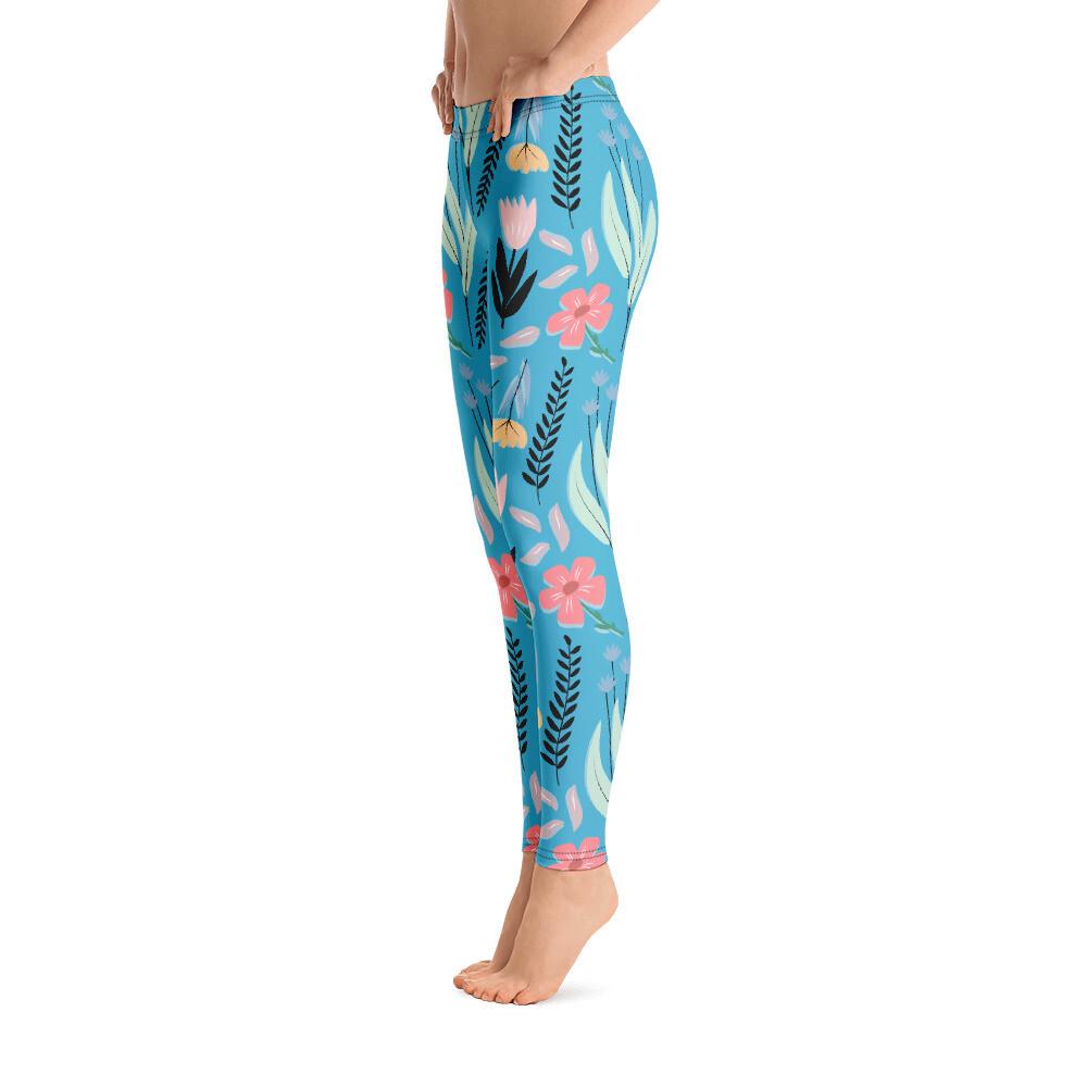 Leggings - Sininen kukka