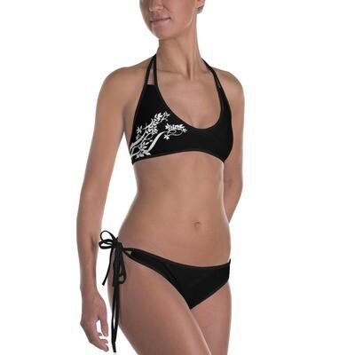 Mustat bikinit - Kukkakuvio