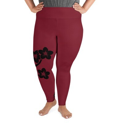 Leggings - Mustakukka 2XL-6XL