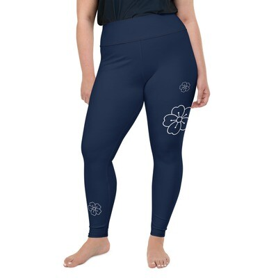 Leggings - Kukkakuvio 2XL-6XL