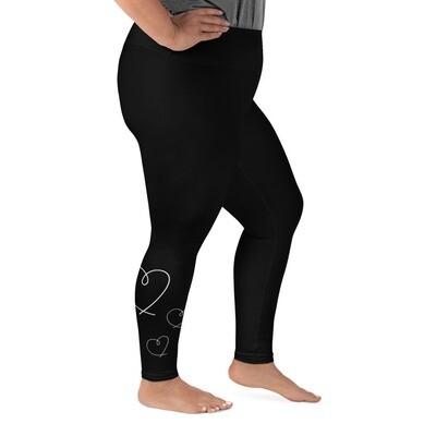 Plus-kokoiset leggingsit - Sydän 2XL-6XL