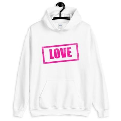 Valkoinen huppari - Love