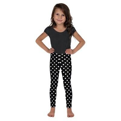 Lasten Leggings - musta / valkoiset pallot
