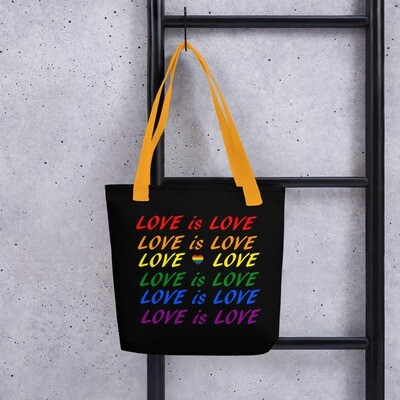 Pride kassi - Love is love musta