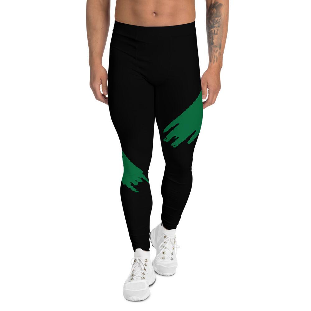 Miesten leggings - Vihreä kuviointi