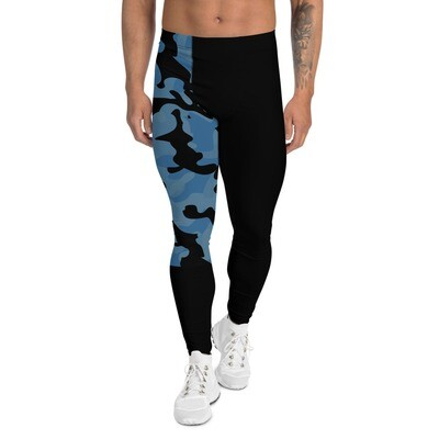 Meggings miesten leggings - Sininen camouflage