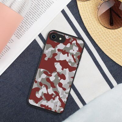 Biohajoava suojakuori iPhone - Ruskea camouflage