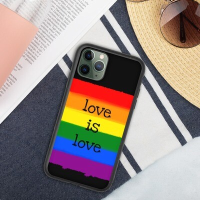 Biohajoava suojakuori iPhone - Sateenkaari love is love