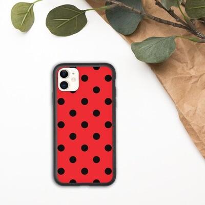 Biohajoava suojakuori iPhone - Punainen pallokuosi