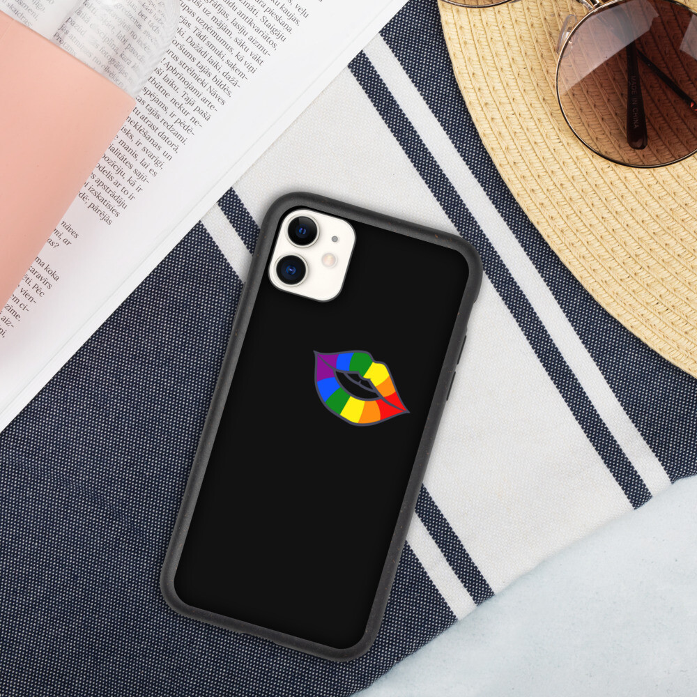 Biohajoava iPhone suojakuori - Huulet