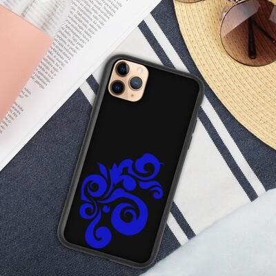 Biohajoava iPhone suojakuori - Sininen kaari
