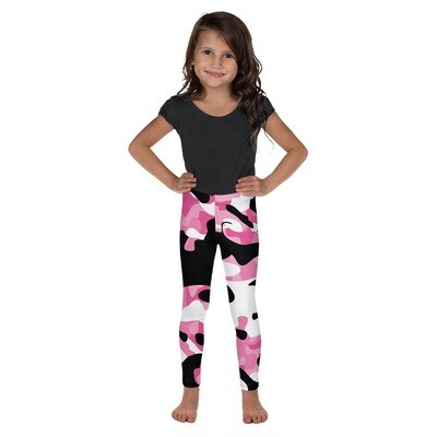 Lasten leggings - Pinkki camouflage