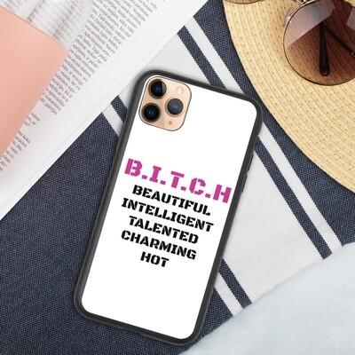 Biohajoava iPhone suojakuori - B.I.T.C.H