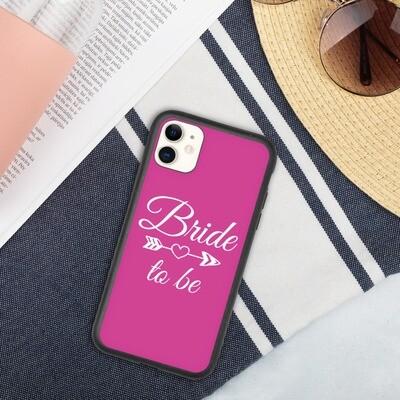 Biohajoava iPhone suojakuori - Bride to be