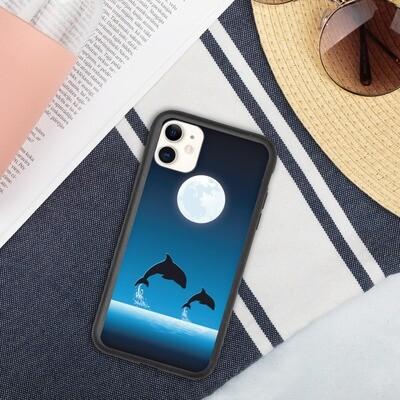 Biohajoava iPhone suojakuori - Delfiinit