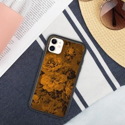 Biohajoava iPhone suojakuori - Oranssit kukat