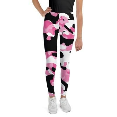 Nuorten leggings - Pinkki maastokuvio