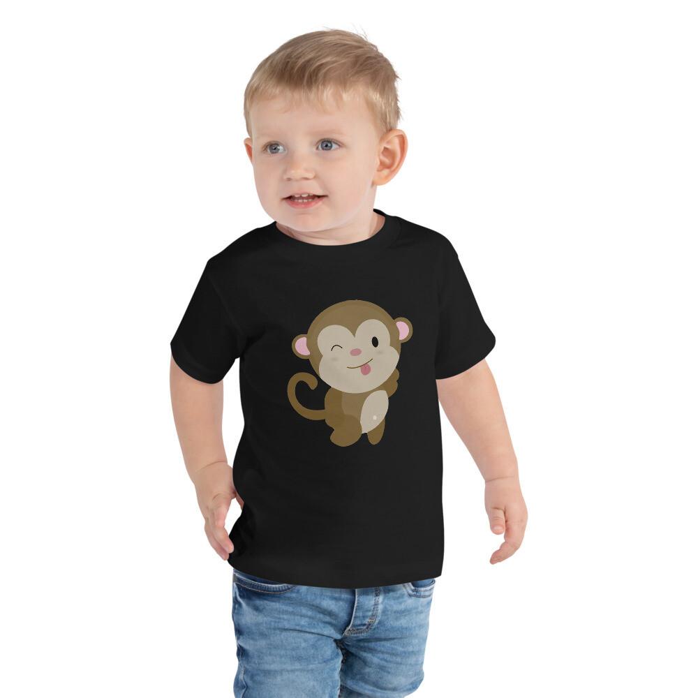 Lasten t-paita - Veikeä apina