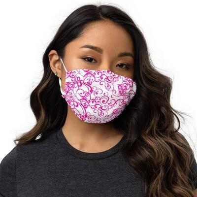Kangasmaski - pinkkiä kuviointia