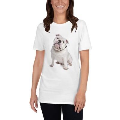 T-paita - Valkoinen Englannin bulldog UNISEX