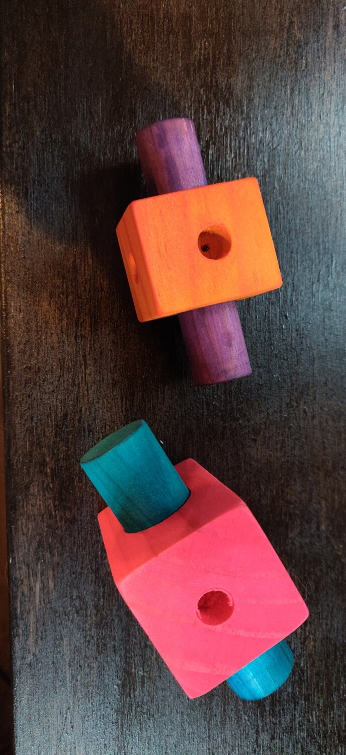 Large Square Peg Foot Toy