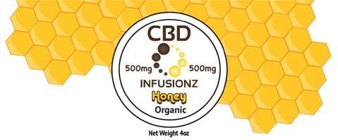 CBD Infusionz CBD Honey Full Spectrum 500MG