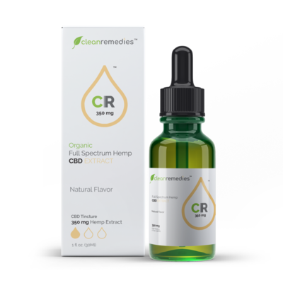 Clean Remedies 350mg - 350mg of Full Spectrum CBD Oil Drops